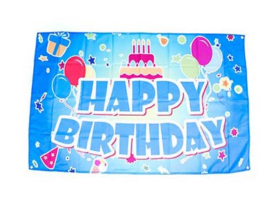 birthday party flag, banner