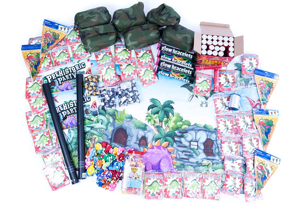 dinosaur party supplies, Jurassic party packs