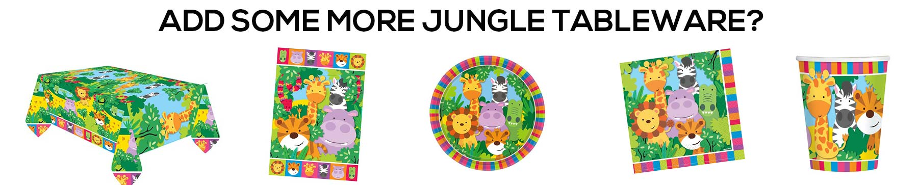 kids jungle safari birthday tableware