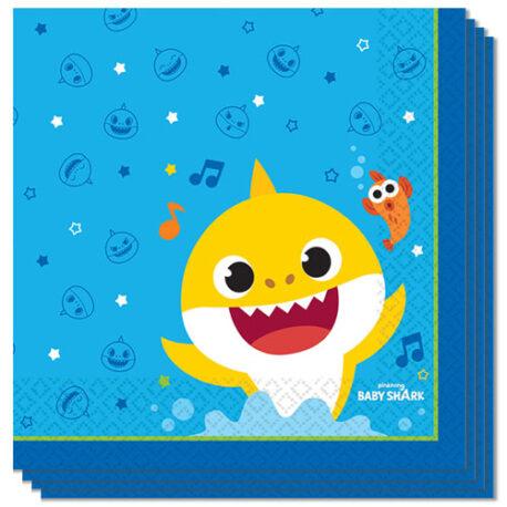 16 x Baby Shark Paper Napkins