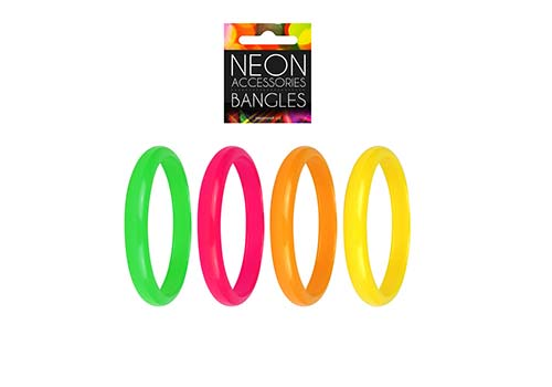 glow neon bangles, fluorescent wristbands
