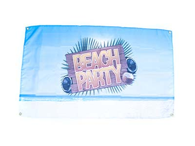 beach theme flag, beach party banner