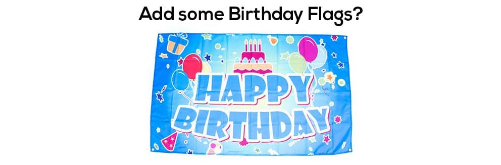 flag for birthday parties