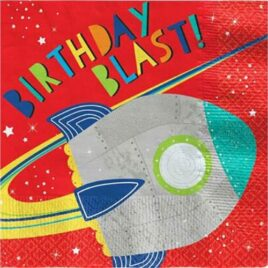 Blast Off Space Napkins