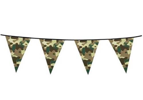 camo bunting, camouflage bunting