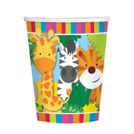 safari jungle paper cups