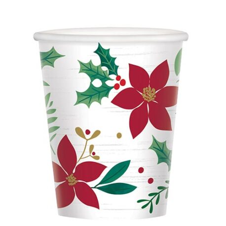Christmas party paper cups
