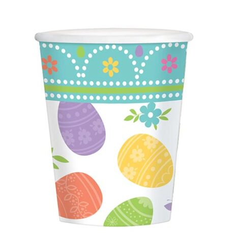 easter party paper cups
