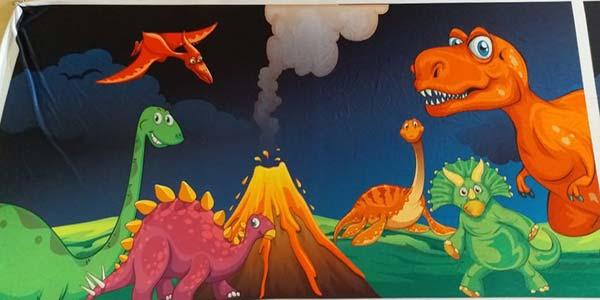 dinosaur banner, dinosaur draping