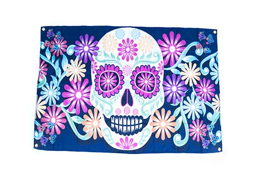 day of the dead banner flag decoration.