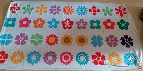 flower banner, flower draping