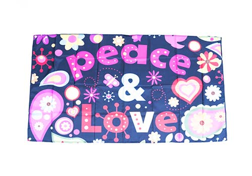 peace and love themed event flag decoration