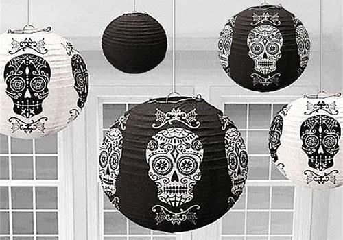 Halloween lantern skull decorations