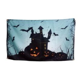 Haunted House Halloween Flag, halloween flags banner