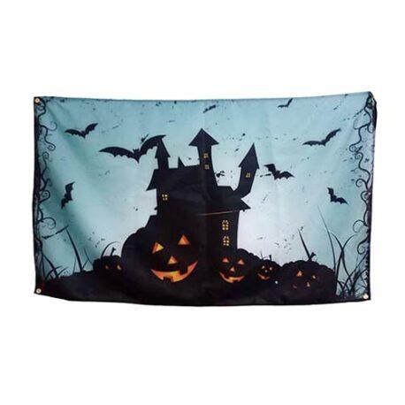 Haunted House Halloween Flag, halloween flags banner