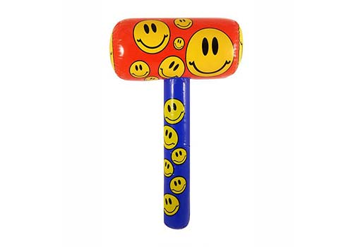 smiley face inflatable hammer