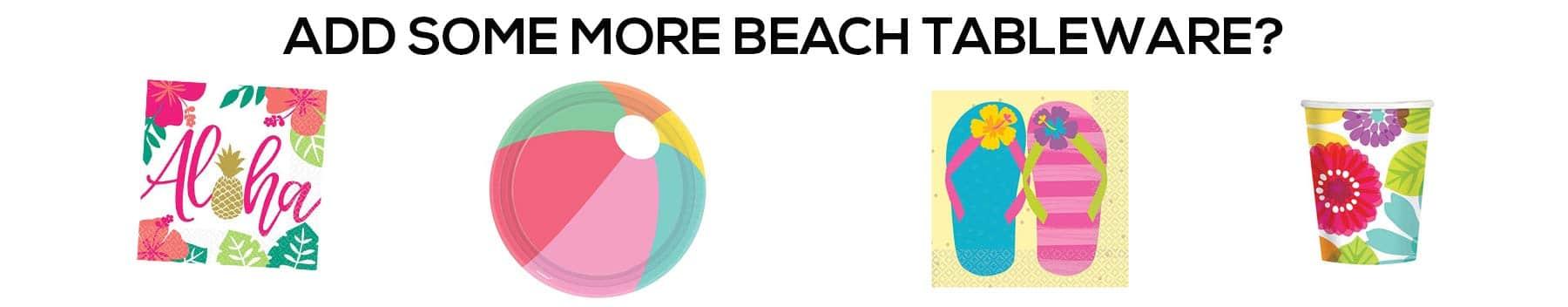 kids party beach tableware