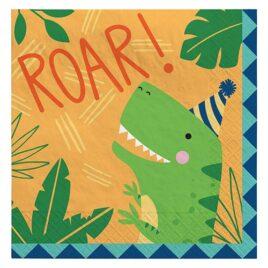 dinosaur paper napkins