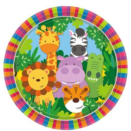 safari jungle plates
