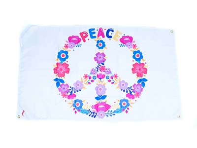 peace flag, peace banner decoration, large peace decorations