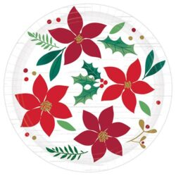 christmas paper plates