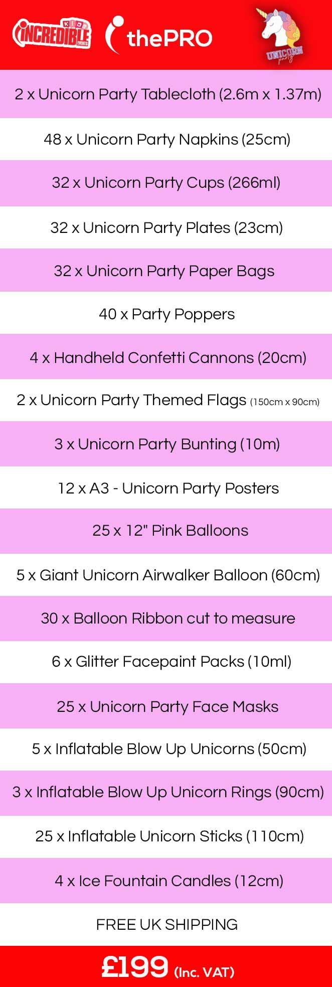 kids unicorn party