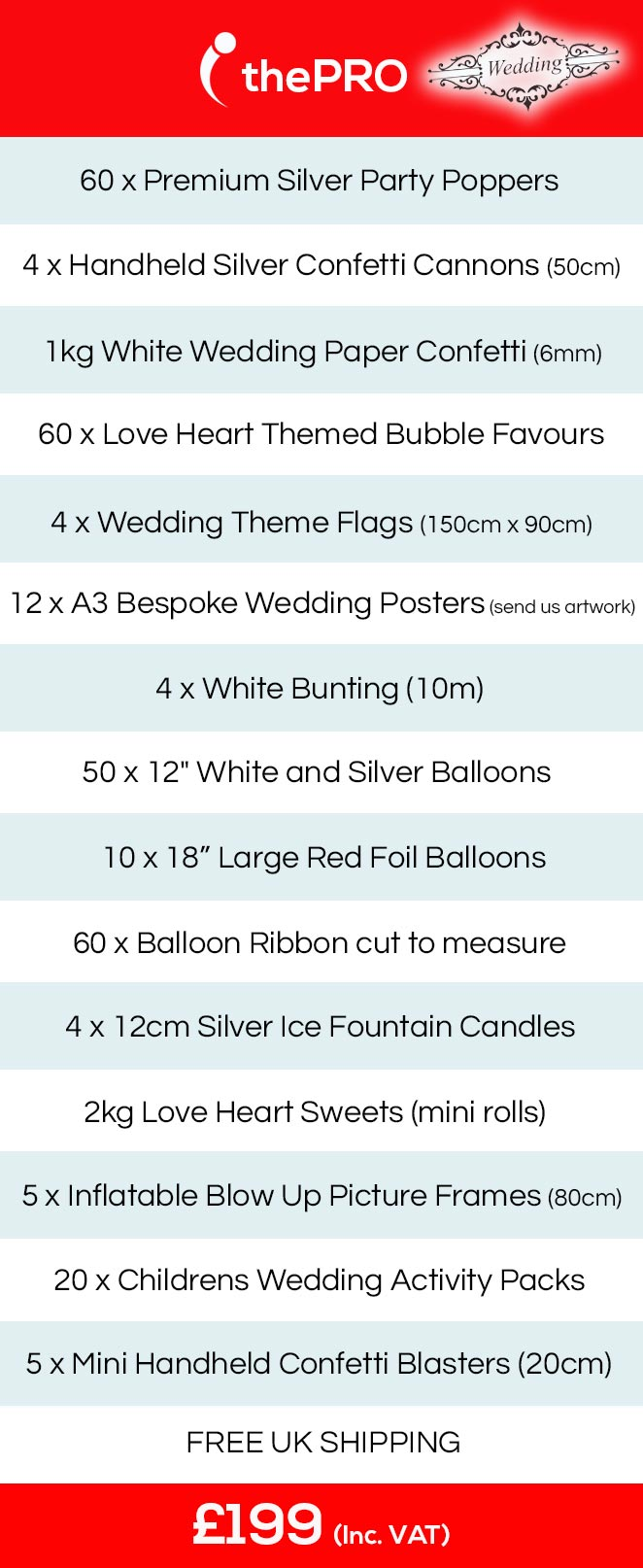 wedding party ideas, wedding party packs