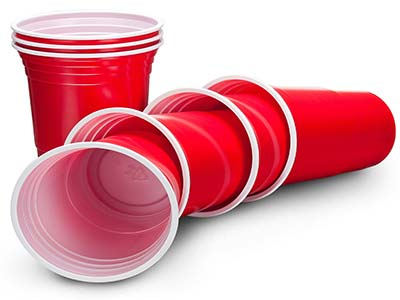 red birthday party cups