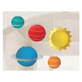 space paper lanterns