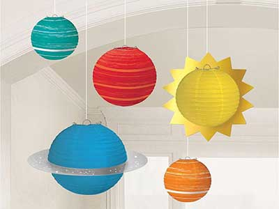 space themed lantern decorations