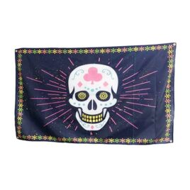 Sugar Skull Flags, cinco de mayo flags