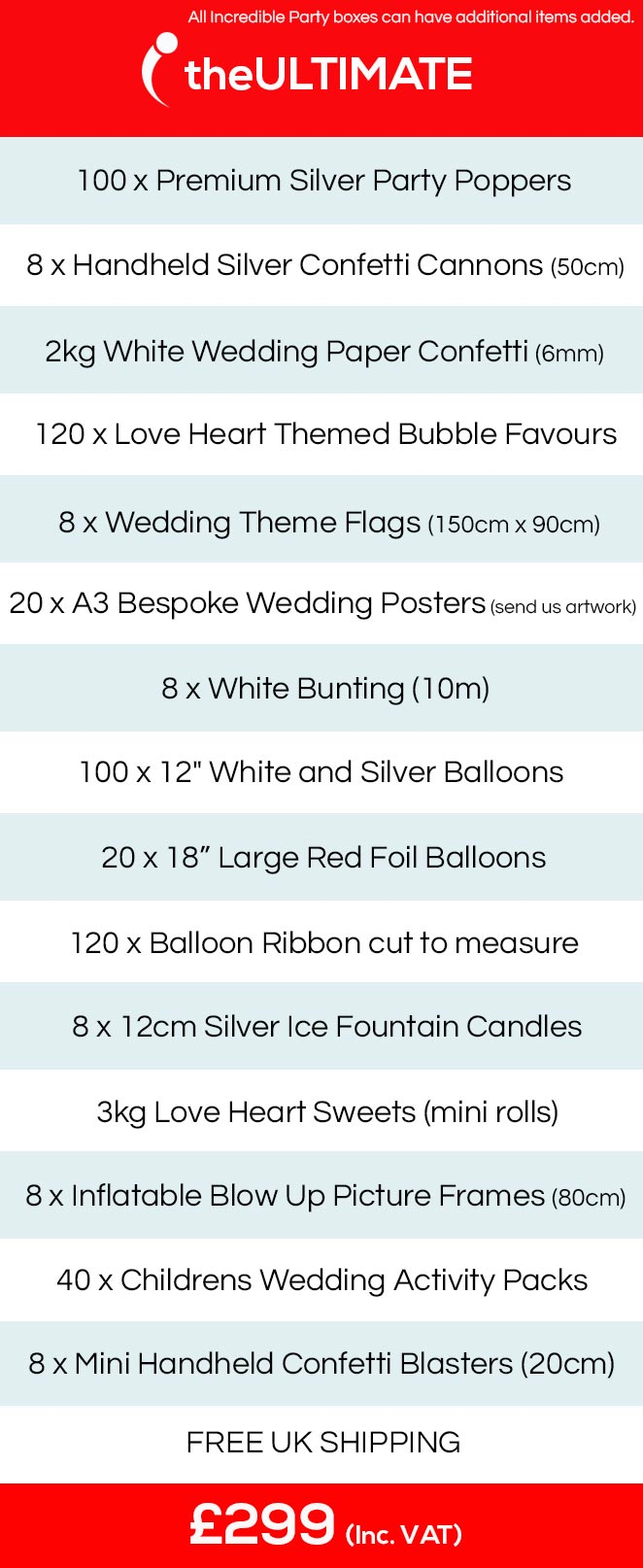 wedding party theme ideas, wedding party packs