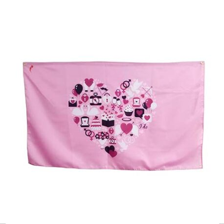 Love Heart Wedding Flag, wedding party flags