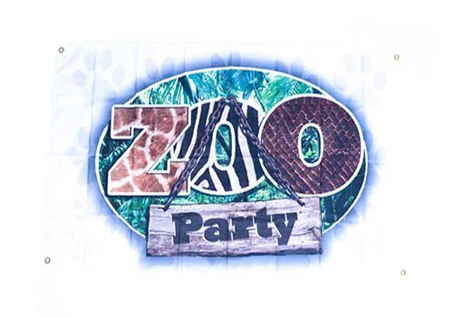 zoo party flag, safari flags