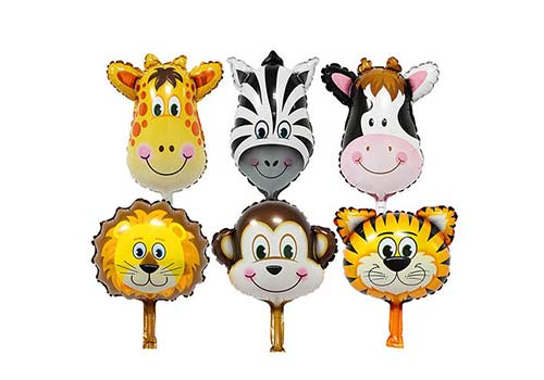 large animal foil balloons, zoo party balloons