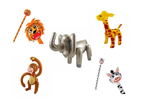 blow up inflatable animals, inflatable safari animals