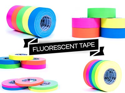 colourful fluorescent gaffer gaffa tape