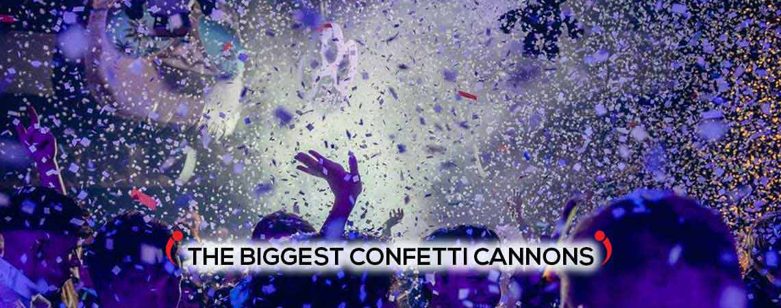 giant large confetti cannons, uks biggest confetti