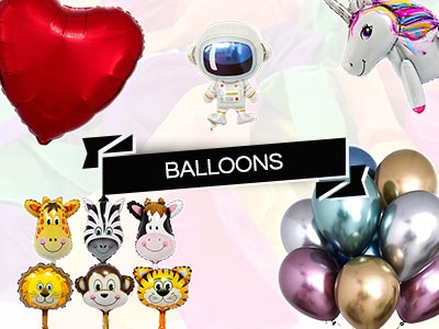 party themed balloons