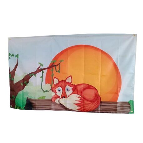 fox flag, themed fox flags