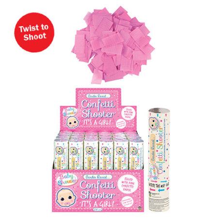 Girl Gender Reveal Confetti Shooter