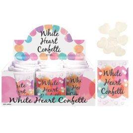 Wedding White Heart Confetti