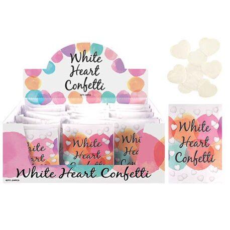 Wedding White Heart Confetti