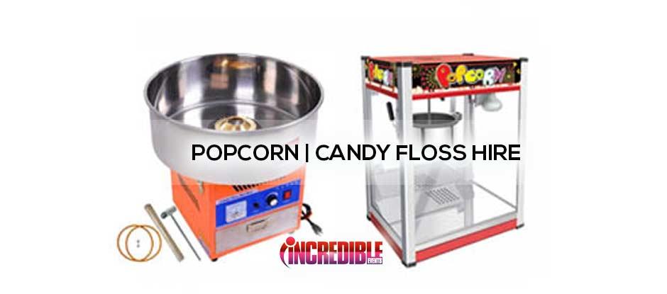 popcorn and candyfloss machine hire