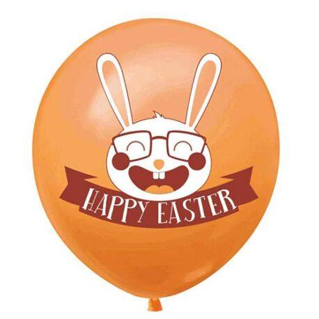 orange Easter balloons