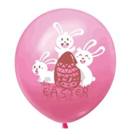 pink Easter balloons