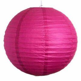 pink paper lanterns