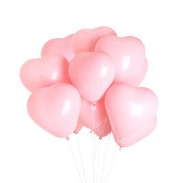 100 x 12″ Pink Heart Balloons