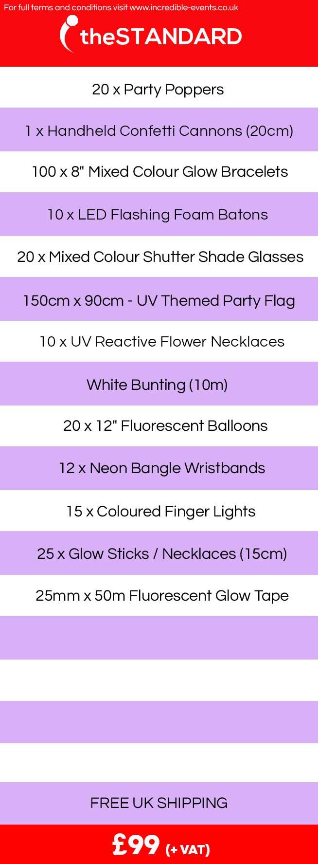 UV Theme, Glow Party.