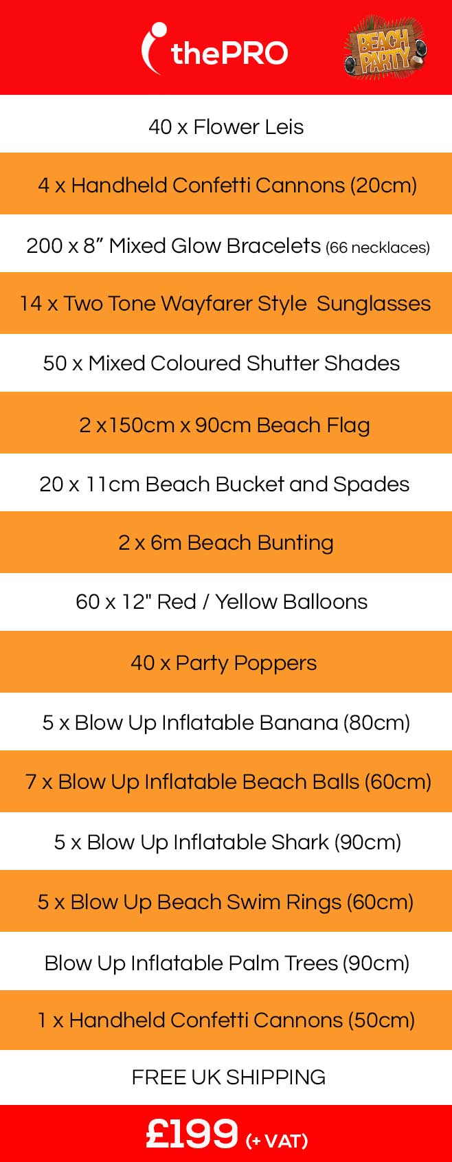 Beach Party, Beach Party in a Box, Beach Event Delivery, event in a box, event care package, event care packages,